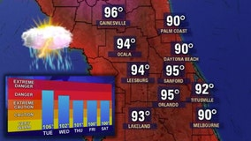 Summertime Sizzle: Heat index soars into the triple digits in Central Florida as rain chances increase
