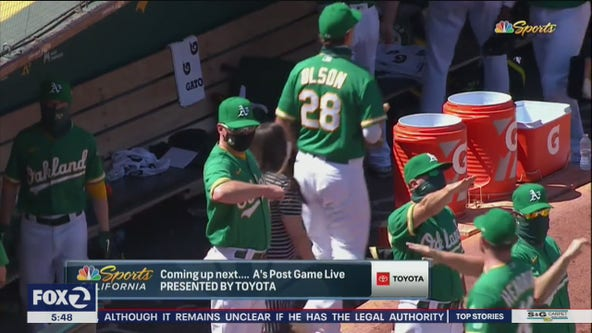 Oakland A's coach apologizes after he makes gesture that looks like Nazi salute