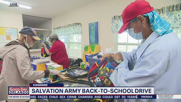 Salvation Army back-to-school drive