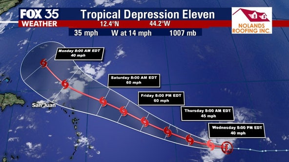 Tropical Storm Josephine expected to form Wednesday