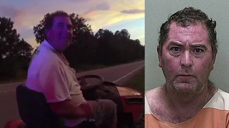 Florida man with 3 prior DUIs arrested after driving lawnmower on highway while intoxicated, deputies say
