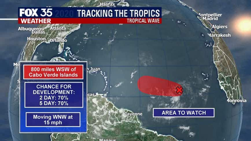 System moving west likely to develop into tropical depression, NHC says