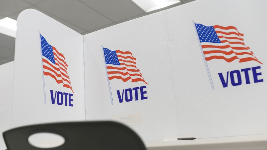 FILE - Privacy blinds set up on a table at the Minneapolis Early Vote Center on January 17, 2020 in Minneapolis, Minnesota.