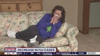 Decrease in flu cases