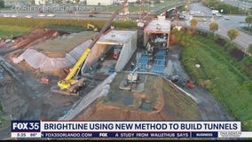 Brigthline using new method to build tunnels for trains