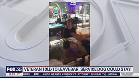 Veteran told to leave bar but service dog could stay
