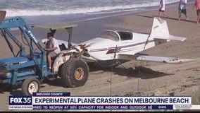 Experimental plane crashes on Melbourne Beach