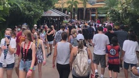 Orlando theme parks expected to be packed on Labor Day after hitting capacity over the weekend