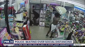 Police say man was beaten over social distancing