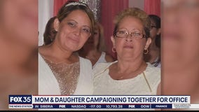 Mom, daughter campaigning together for office