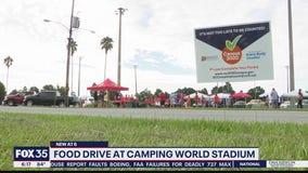 Food drive at Camping World Stadium