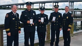 Central Florida firefighters recognized for saving woman's life during fire at her residence