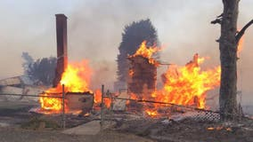 Washington 'firestorm' destroys 80% of small town as wildfires rage in Pacific Northwest