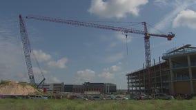 Operator safe after crane collision that injured 22