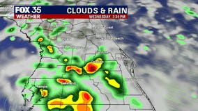 High rain chance; periods of heavy rain as we finish the workweek