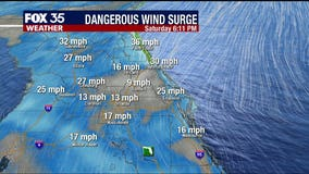 Dangerous wind surge this weekend