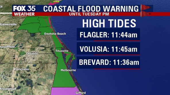 Coastal flooding, strong winds continue along Central Florida coast