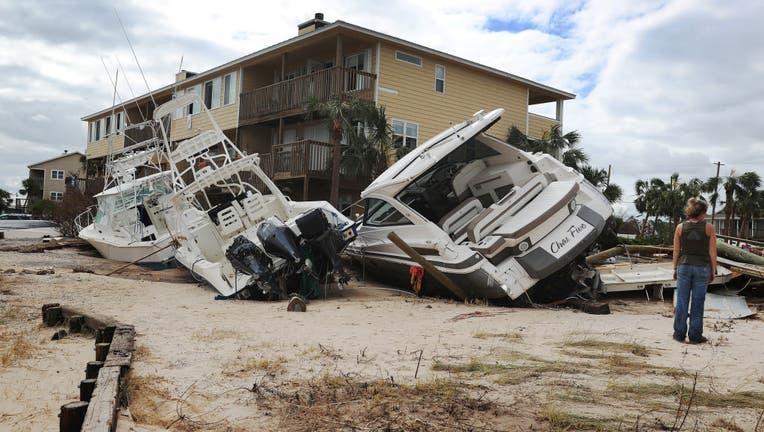 Hurricane Sally left a path of destruction in Pensacola, Florida.