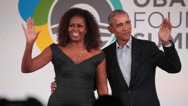 GETTY Barack And Michelle Obama Speak At Obama Foundation Summit