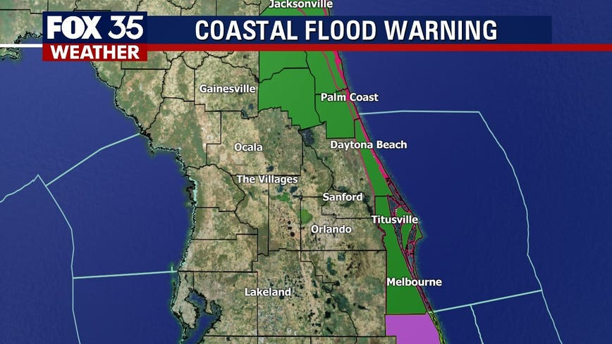 Disturbance off Central Florida causes coastal flooding, strong winds