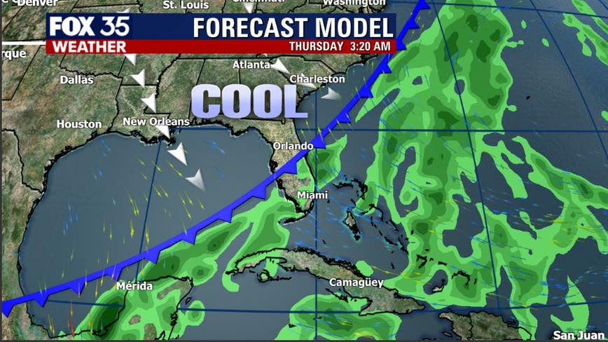 Cold front to pass through this week, bringing cooler and drier weather