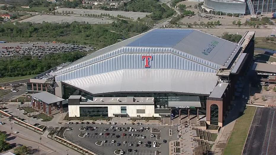 Globe Life Field overhead Texas Rangers
