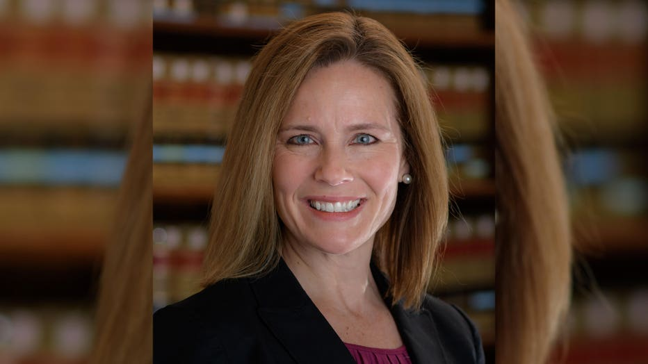A file image shows Amy Coney Barrett, U.S. Court of Appeals for the Seventh Circuit judge.