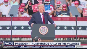President Trump holds rally in The Villages