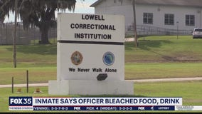 Florida inmate sues corrections department over bleach in drink
