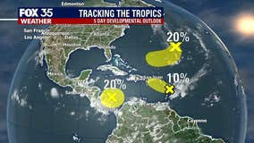 FOX 35 is monitoring three areas in the tropics that could develop