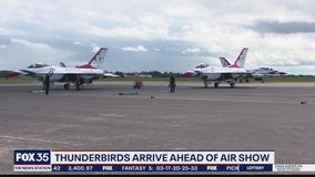 Thunderbirds arrive ahead of air show
