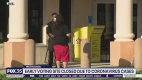 COVID-19 shuts down polling location
