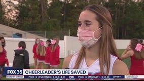 After cardiac arrest, Daytona Beach cheerleader returns to field