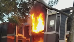 Apartment complex residents displaced after weekend fire