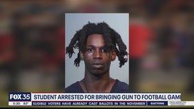 Student accused of bringing gun to football game