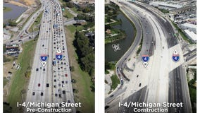 Michigan Street eastbound I-4 ramp reopens; Kaley Avenue ramp closes