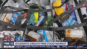 Students set up food bank at school