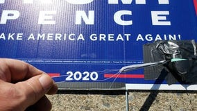 Bomb Squad responds to 'small audible alarms' taped to political campaign signs in Easton