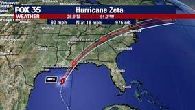 Hurricane Zeta takes aim at Gulf Coast, landfall expected Wednesday