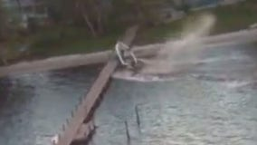 Photoshoot goes wrong after men go overboard, boat strikes dock