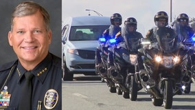 Body of Ocala Police Chief escorted to funeral home