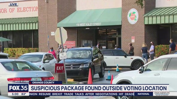 Suspicious package found outside voting location