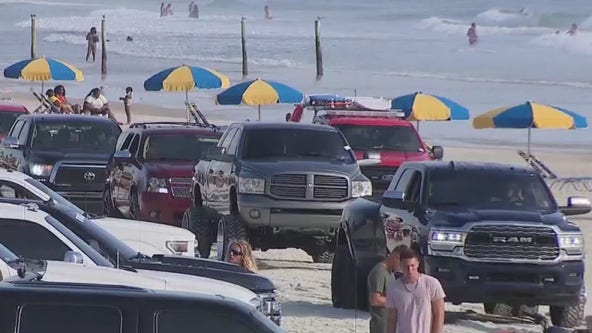 Law enforcement patrols Trucktoberfest in Daytona Beach