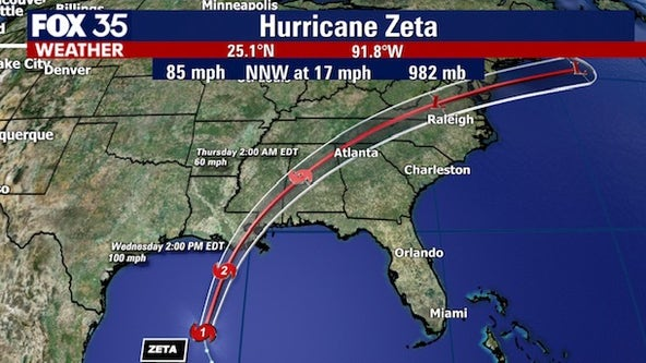 Zeta restrengthens into hurricane in the Gulf of Mexico