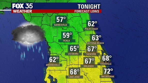 Cold front to drop temperatures into the 50s, 60s across Florida