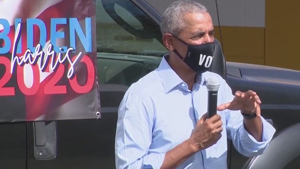 President Obama surprises campaign volunteers in Orlando