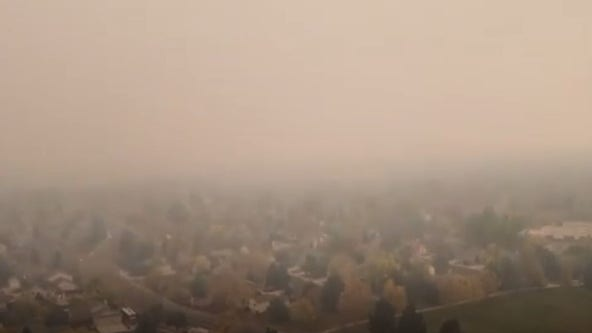Colorado fires blanket Fort Collins in smoky haze