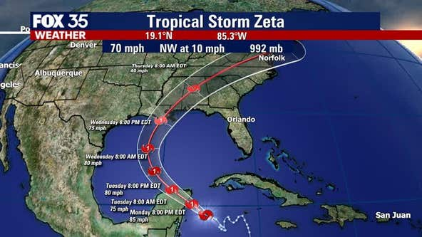 Zeta to strengthen into hurricane before impacting Mexico, U.S.