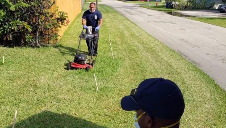 ft lauderdale mow lawn heat stroke