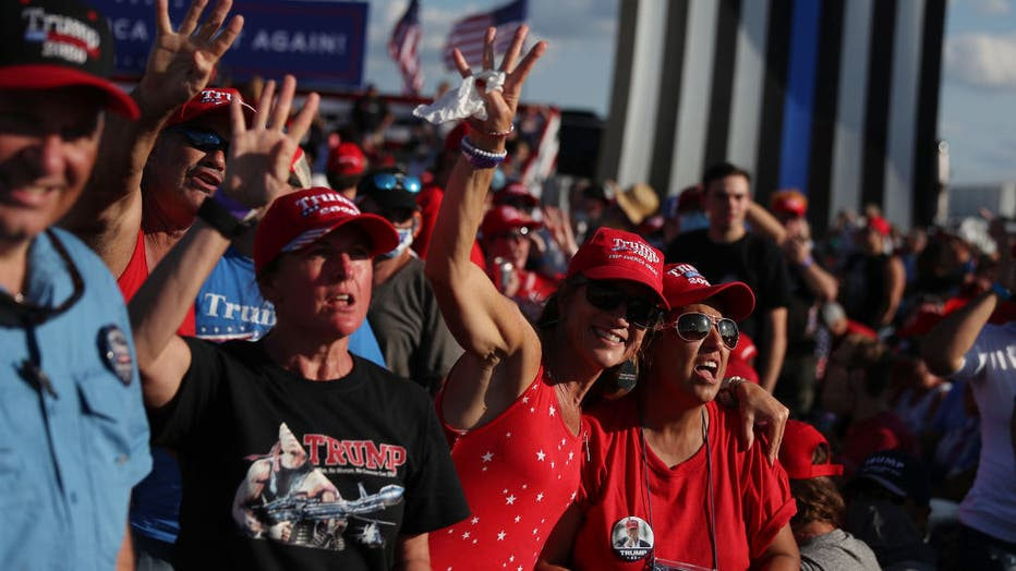 President Donald Trump was holding his first campaign rally since his coronavirus diagnosis.